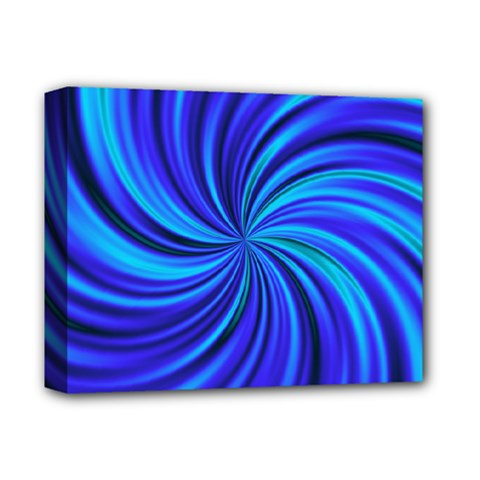 Happy, Blue Deluxe Canvas 14  X 11  by MoreColorsinLife
