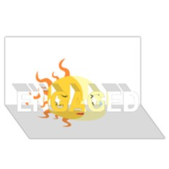 Coexist Engaged 3d Greeting Card (8x4)