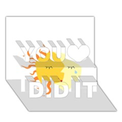 Coexist You Did It 3d Greeting Card (7x5)