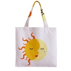 Coexist Zipper Grocery Tote Bags by fallacies