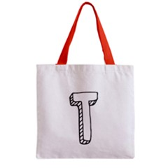 Letter T  Grocery Tote Bag by maemae