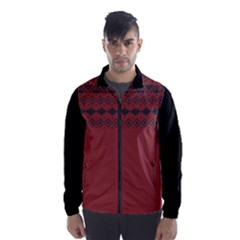 Aztec Red Black Wind Breaker (Men) by maemae