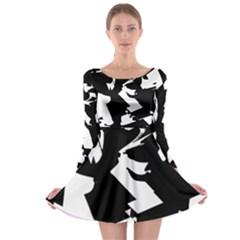 Long Sleeve Skater Dress by MoreColorsinLife
