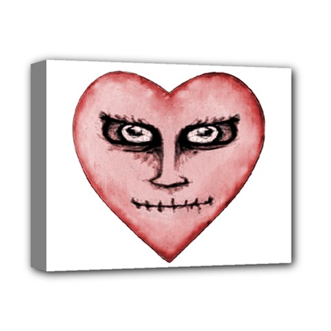 Angry Devil Heart Drawing Print Deluxe Canvas 14  X 11  by dflcprints