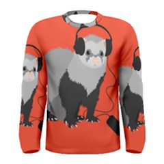 Funny Music Lover Ferret Men s Long Sleeve T Shirts by CreaturesStore