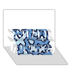 Blue Maths Signs You Are Invited 3d Greeting Card (7x5)