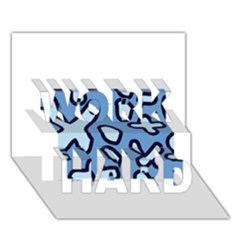 Blue Maths Signs Work Hard 3d Greeting Card (7x5)