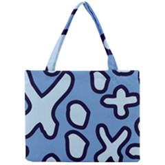 Blue maths signs Tiny Tote Bags