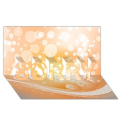 Wonderful Christmas Design With Sparkles And Christmas Balls Sorry 3d Greeting Card (8x4)