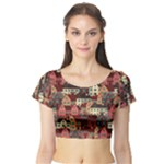 house - Short Sleeve Crop Top (Tight Fit)