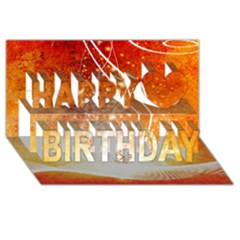 Wonderful Christmas Design With Snowflakes  Happy Birthday 3d Greeting Card (8x4)  by FantasyWorld7