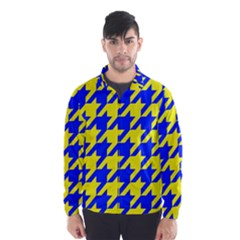 Houndstooth 2 Blue Wind Breaker (men) by MoreColorsinLife