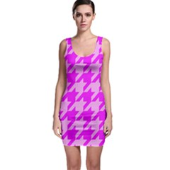 Houndstooth 2 Pink Bodycon Dresses