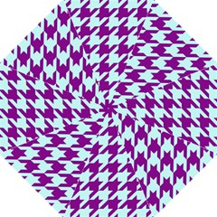 Houndstooth 2 Purple Straight Umbrellas by MoreColorsinLife