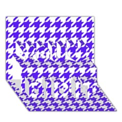 Houndstooth Blue You Did It 3d Greeting Card (7x5)