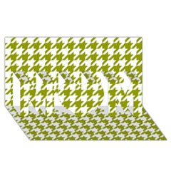 Houndstooth Green MOM 3D Greeting Card (8x4)