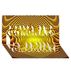 Swirling Dreams Yellow Congrats Graduate 3d Greeting Card (8x4)  by MoreColorsinLife