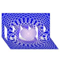 Swirling Dreams, Blue Mom 3d Greeting Card (8x4)