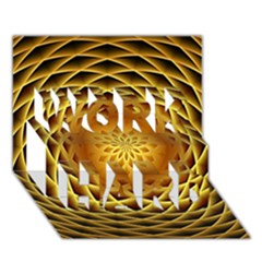 Swirling Dreams, Golden Work Hard 3d Greeting Card (7x5)