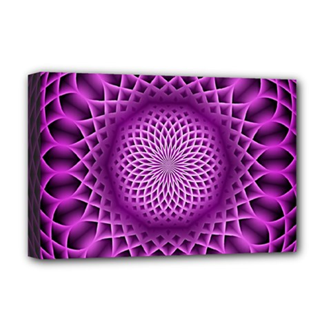 Swirling Dreams, Hot Pink Deluxe Canvas 18  X 12   by MoreColorsinLife