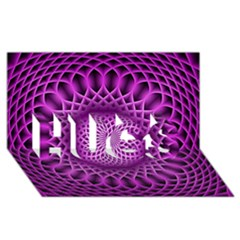 Swirling Dreams, Hot Pink Hugs 3d Greeting Card (8x4)  by MoreColorsinLife