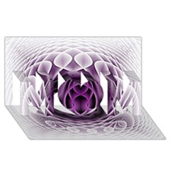 Swirling Dreams, Purple Mom 3d Greeting Card (8x4)