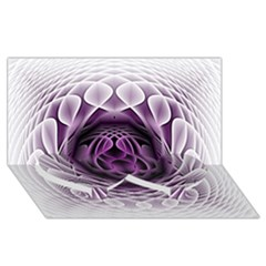Swirling Dreams, Purple Twin Heart Bottom 3d Greeting Card (8x4)  by MoreColorsinLife