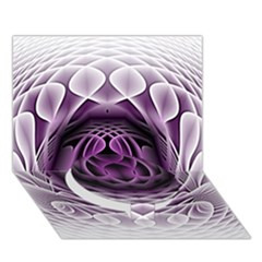 Swirling Dreams, Purple Circle Bottom 3d Greeting Card (7x5)