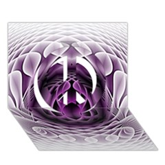Swirling Dreams, Purple Peace Sign 3d Greeting Card (7x5)  by MoreColorsinLife