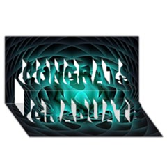 Swirling Dreams, Teal Congrats Graduate 3d Greeting Card (8x4)