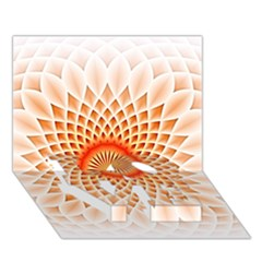 Swirling Dreams,peach Love Bottom 3d Greeting Card (7x5)