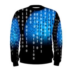 Binary Rain Men s Sweatshirt