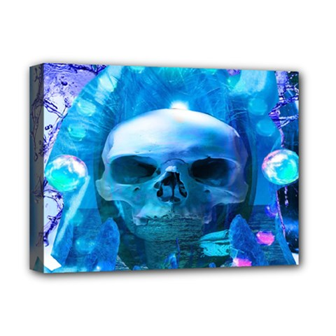 Skull Worship Deluxe Canvas 16  X 12   by icarusismartdesigns