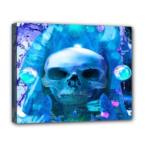 Skull Worship Deluxe Canvas 20  X 16   by icarusismartdesigns