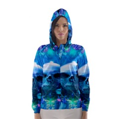 Skull Worship Hooded Wind Breaker (women)