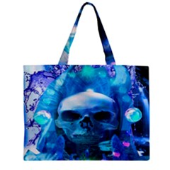 Skull Worship Zipper Tiny Tote Bags by icarusismartdesigns