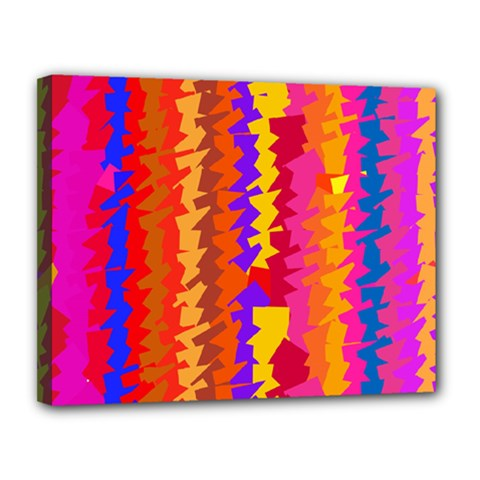 Colorful Pieces Canvas 14  X 11  (stretched) by LalyLauraFLM