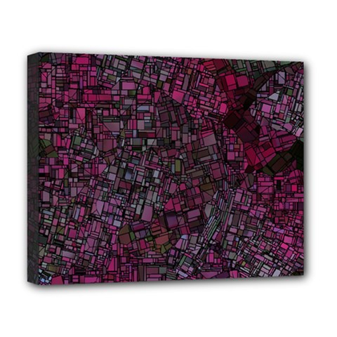 Fantasy City Maps 1 Deluxe Canvas 20  X 16   by MoreColorsinLife