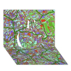 Fantasy City Maps 2 Apple 3d Greeting Card (7x5)  by MoreColorsinLife