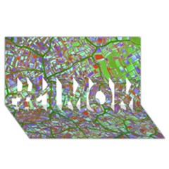 Fantasy City Maps 2 #1 Mom 3d Greeting Cards (8x4)  by MoreColorsinLife