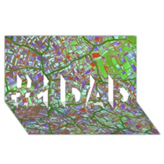 Fantasy City Maps 2 #1 Dad 3d Greeting Card (8x4)