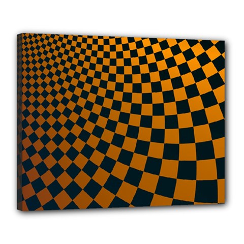 Abstract Square Checkers  Canvas 20  X 16  by OZMedia