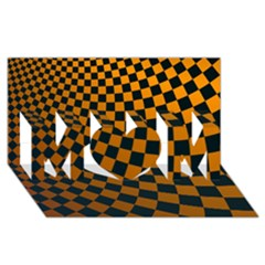 Abstract Square Checkers  Mom 3d Greeting Card (8x4)  by OZMedia