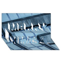 Abstract View Of Modern Buildings Merry Xmas 3d Greeting Card (8x4)  by OZMedia
