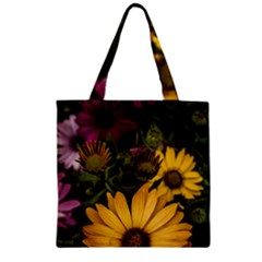Beautiful Colourful African Daisies  Zipper Grocery Tote Bags by OZMedia