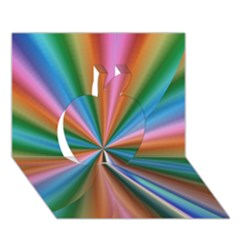 Abstract Rainbow Apple 3d Greeting Card (7x5)