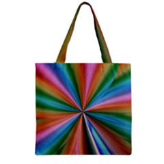 Abstract Rainbow Grocery Tote Bags