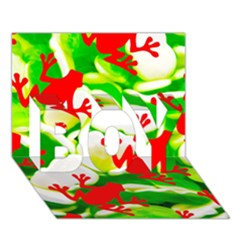 Box Of Frogs  Boy 3d Greeting Card (7x5)