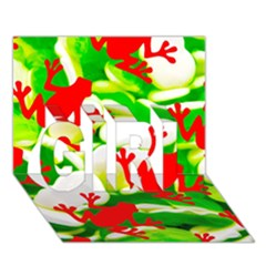Box Of Frogs  Girl 3d Greeting Card (7x5)