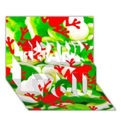 Box Of Frogs  Thank You 3d Greeting Card (7x5)